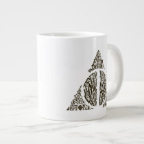 Harry Potter Spell   DEATHLY HALLOWS Typography Gr Giant Coffee Mug