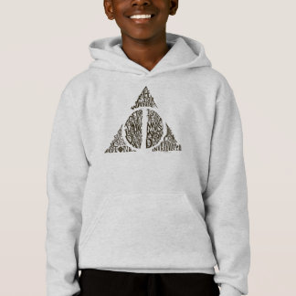 Harry Potter Spell | DEATHLY HALLOWS Typography Gr Hoodie