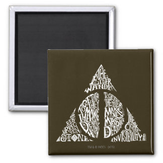 Harry Potter Spell | DEATHLY HALLOWS Typography Gr Magnet