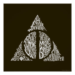 Harry Potter Spell | DEATHLY HALLOWS Typography Gr Poster