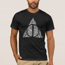 Harry Potter Spell | DEATHLY HALLOWS Typography Gr T-Shirt