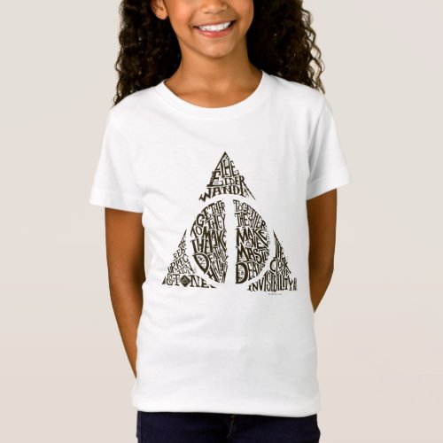 Harry Potter Spell  DEATHLY HALLOWS Typography Gr T_Shirt