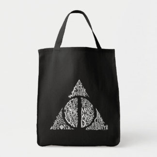 Harry Potter Spell | DEATHLY HALLOWS Typography Gr Tote Bag
