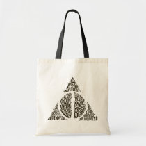 Harry Potter Spell   DEATHLY HALLOWS Typography Gr Tote Bag