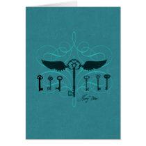 Harry Potter Spell   Flying Keys Card
