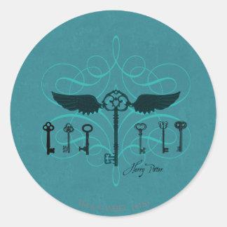 Harry Potter Spell | Flying Keys Classic Round Sticker