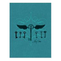 Harry Potter Spell | Flying Keys Postcard