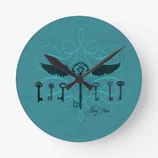 Harry Potter Spell | Flying Keys Round Clock
