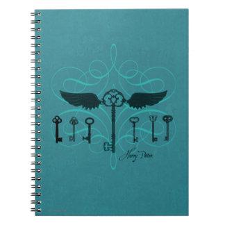 Harry Potter Spell   Flying Keys Spiral Notebook