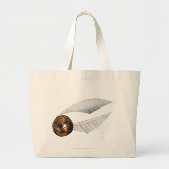 Harry Potter Spell   Golden Snitch Large Tote Bag