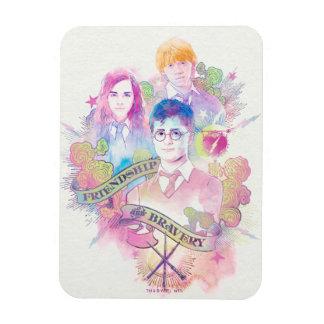 Harry Potter Spell | Harry, Hermione, & Ron Waterc Magnet