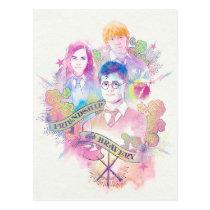 Harry Potter Spell   Harry, Hermione, & Ron Waterc Postcard