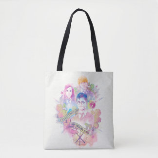 Harry Potter Spell | Harry, Hermione, & Ron Waterc Tote Bag