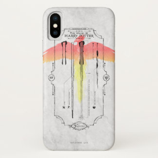 Harry Potter Spell | Harry's Wand Infographic iPhone X Case