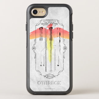 Harry Potter Spell   Harry's Wand Infographic OtterBox Symmetry iPhone 8/7 Case