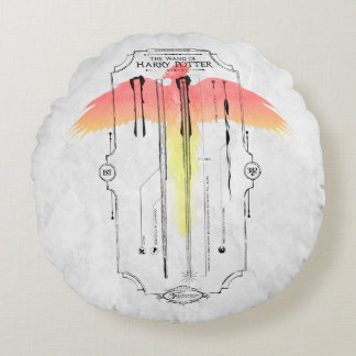 Harry Potter Spell | Harry's Wand Infographic Round Pillow