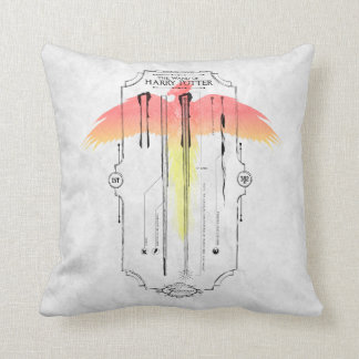 Harry Potter Spell | Harry's Wand Infographic Throw Pillow