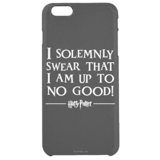 Harry Potter Spell   I Solemnly Swear Clear iPhone 6 Plus Case