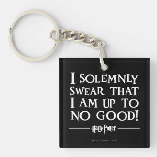 Harry Potter Spell | I Solemnly Swear Keychain