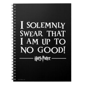 Harry Potter Spell | I Solemnly Swear Notebook