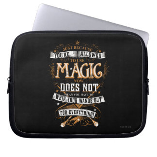 Harry Potter Spell | Just Because You're Allowed T Laptop Sleeve