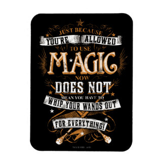 Harry Potter Spell | Just Because You're Allowed T Magnet