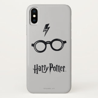 Harry Potter Spell | Lightning Scar and Glasses iPhone X Case