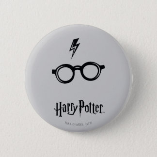 Harry Potter Spell | Lightning Scar and Glasses Pinback Button
