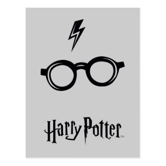 Harry Potter Spell | Lightning Scar and Glasses Postcard