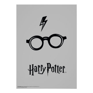 Harry Potter Spell | Lightning Scar and Glasses Poster
