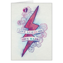 Harry Potter Spell   Love Leaves Its Own Mark Card
