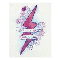 Harry Potter Spell   Love Leaves Its Own Mark Postcard