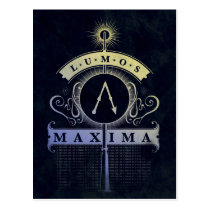Harry Potter Spell | Lumos Maxima Graphic Postcard