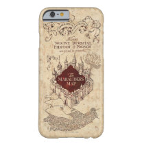Harry Potter Spell   Marauder's Map Barely There iPhone 6 Case