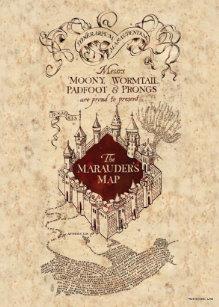 harry potter spell marauders map card