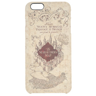 Harry Potter Spell   Marauder's Map Clear iPhone 6 Plus Case