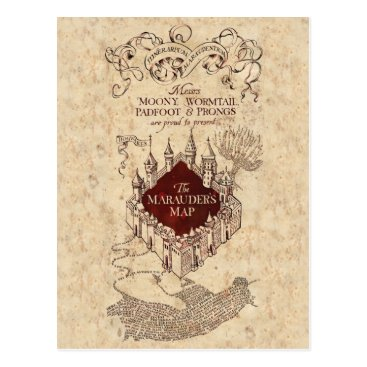 harrypotter Harry Potter Spell   Marauder's Map Postcard