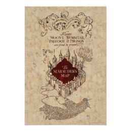 Harry Potter Spell | Marauder's Map Poster