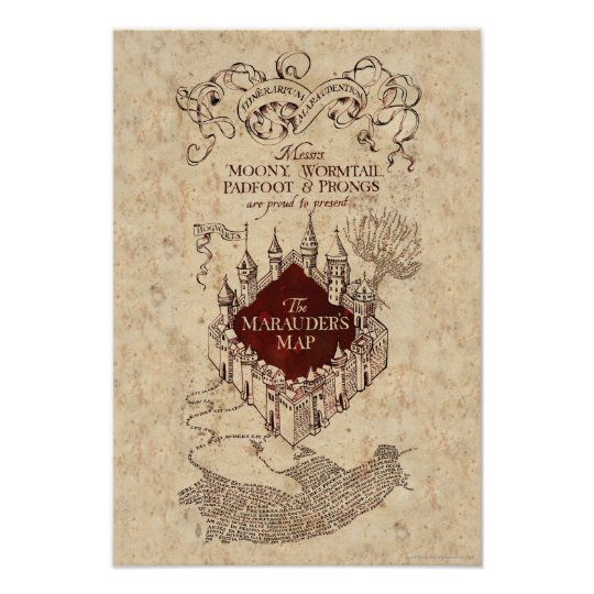 Assez Harry Potter Spell | Marauder's Map Poster | Zazzle.com WH43