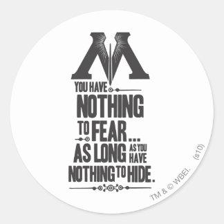 Harry Potter Spell | Ministry of Magic Propaganda Classic Round Sticker