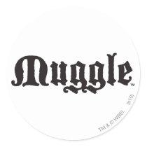 Harry Potter Spell   Muggle Classic Round Sticker