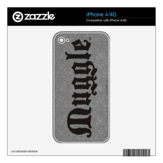 Harry Potter Spell | Muggle Skin For iPhone 4S