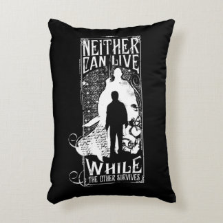 Harry Potter Spell | Neither Can Live Decorative Pillow