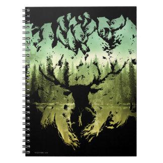 Harry Potter Spell   Stag Patronus Notebook