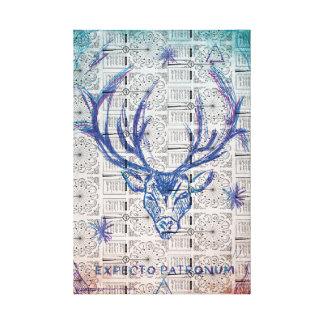 Harry Potter Spell | Stag Patronus Sketch Canvas Print