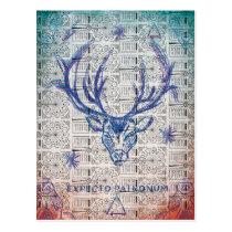 Harry Potter Spell | Stag Patronus Sketch Postcard