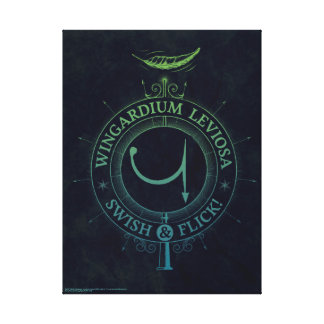 Harry Potter Spell | Wingardium Leviosa Graphic Canvas Print