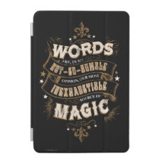 Harry Potter Spell | Words Are Our Most Inexhausti Ipad Mini Cover at Zazzle