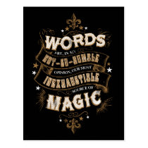 Harry Potter Spell | Words Are Our Most Inexhausti Postcard