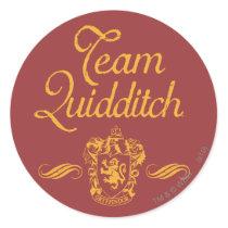 Harry Potter   Team QUIDDITCH™ Classic Round Sticker